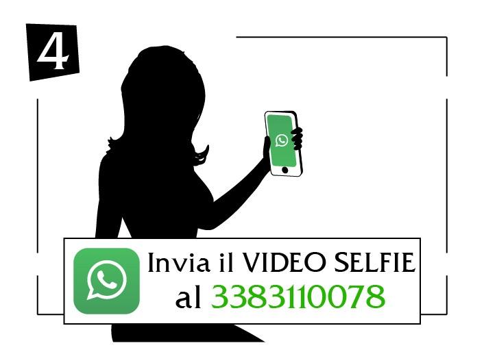 invia il video selfie al